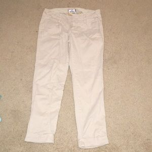 American eagle girls khaki capris
